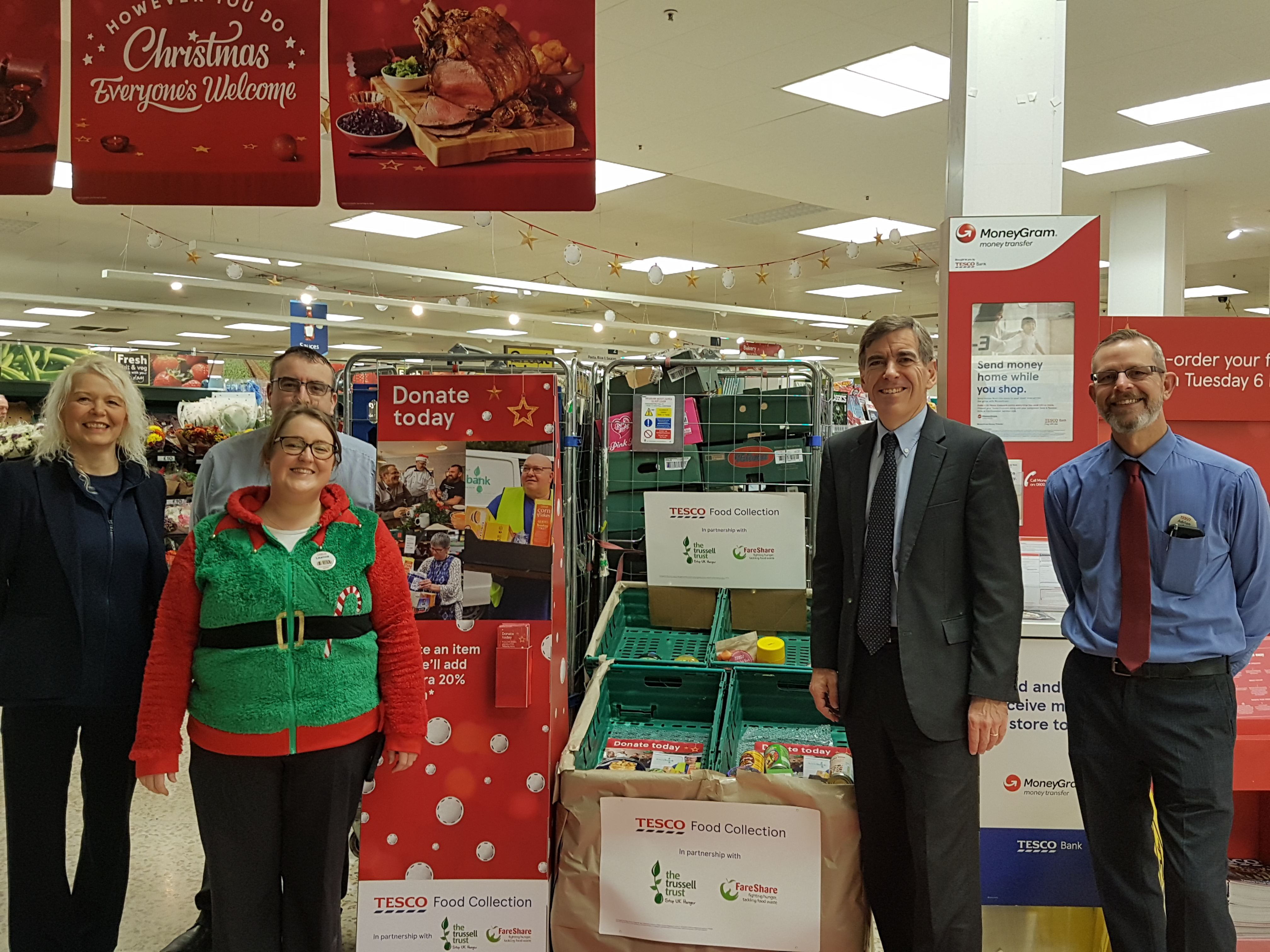 Tesco Food Collection Helps Those In Need David Rutley Mp