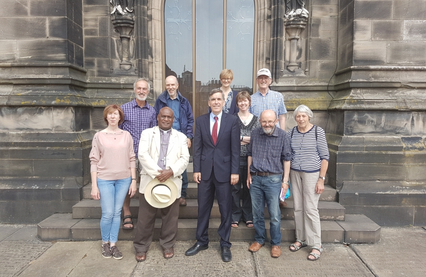 David Rutley MP with the campaigners from HOPE In North East Cheshire