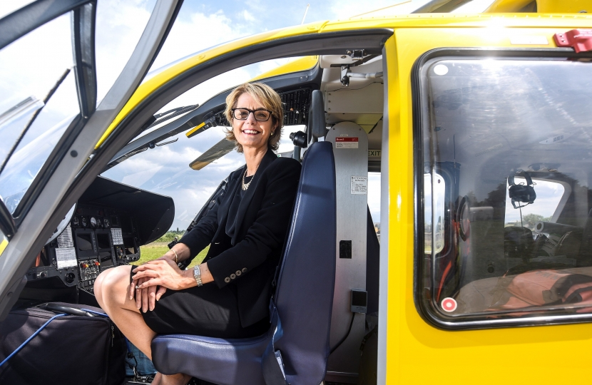 Heather Arrowsmith, Chief Executive of North West Air Ambulance Charity