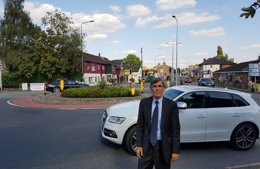 David Rutley MP at Broken Cross roundabout