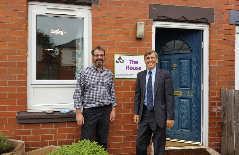 David Rutley MP with Rob Wardle, Founding Director of Cre8