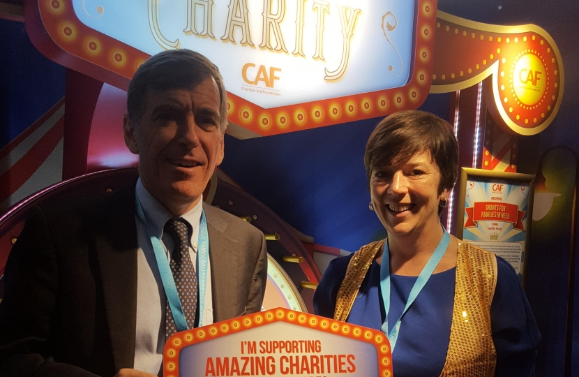 David Rutley MP with Ashleigh Milsom, Campaigns and Public Affairs Manager at the Charities Aid Foundation