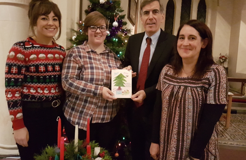 David Rutley MP with Faye Neild, Sophie Cooke and Ann Wright