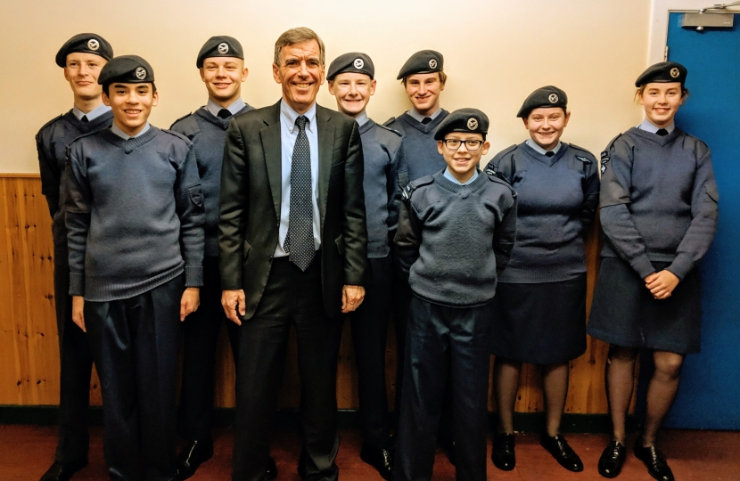 David Rutley MP with 2448 Poynton Squadron