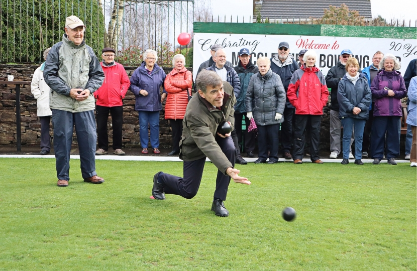 David Rutley MP taking the first bowl of the season