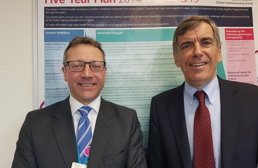 David Rutley MP with Dr Wilson