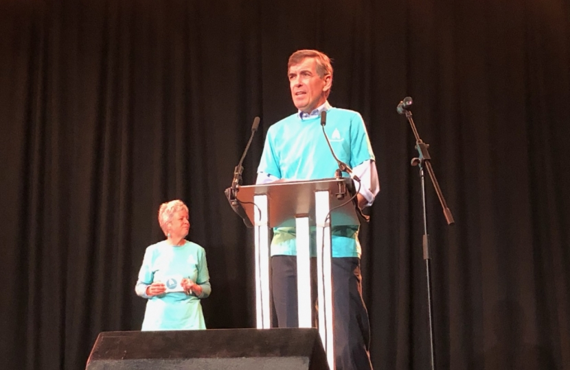 David Rutley MP addressing the Bollington Festival