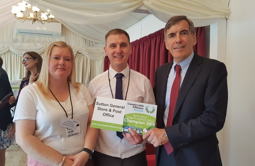 David Rutley MP with Mr and Mrs Bolshaw