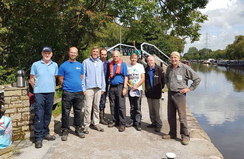 David Rutley MP with Macclesfield Canal Society volunteers