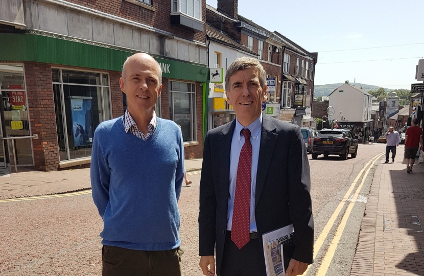 David Rutley MP with Andrew McCloy
