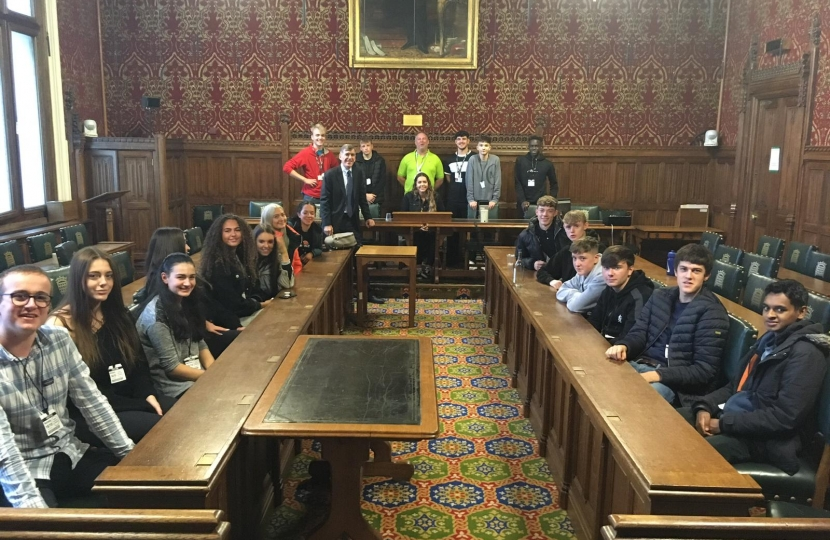 David Rutley MP with the NCS students