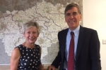 David Rutley MP with Cllr Rachel Bailey