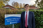 David Rutley MP outside Jocelyn Solley House in Macclesfield