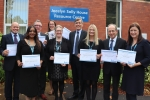 David Rutley MP with nominated staff from the Trust